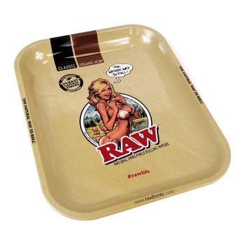 RAW Rolling Tray Girl - 11 x 7