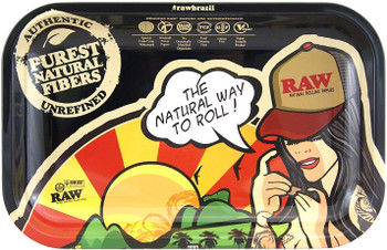 RAW Rolling Tray Brazil Girl - 11 x 7