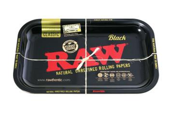RAW ROLLING TRAY METAL BLACK - 11 x 7
