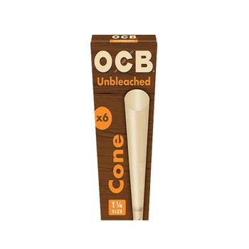 OCB Unbleached Pre-Rolled Virgin Cones 1 1/4 x6