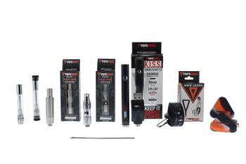 K.I.S.S. Pen 3 in 1 Vaporizer Kit (Oil, Juice & Wax Tanks) - Black