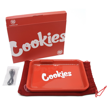 Glow Tray x Cookies LED 7 Color Rolling Tray - Red