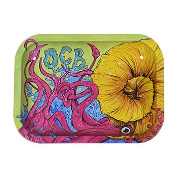 """OCB Rolling Tray - 5.5"""" x 7.4"""" Cephalopod"""