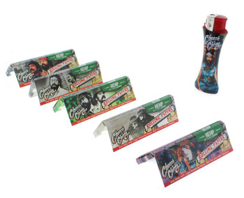 Cheech and Chong 1 1/4 Hemp Rolling Papers 5 Pack with Lighter