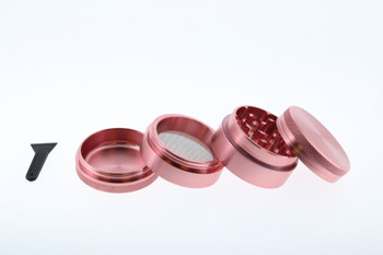 40mm Stainless Steel Pink 4 Level Grinder