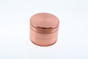 50mm Stainless Steel Rose Gold Pink 4 Level Grinder