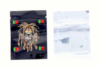 Small Black Lion Seal Proof Bag - 5pack