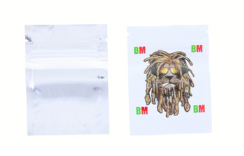 Small White Lion Seal Proof Bag - 5pack