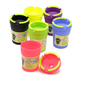 1PC Ashtray Butt Bucket With Luminous Glow in the Dark - Removes Odors