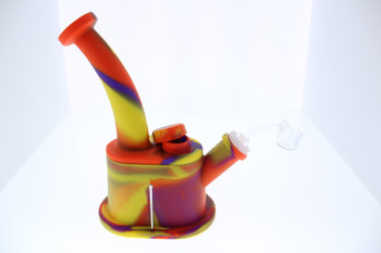 Oval Silicone Dab Rig - Red, Blue, Yellow