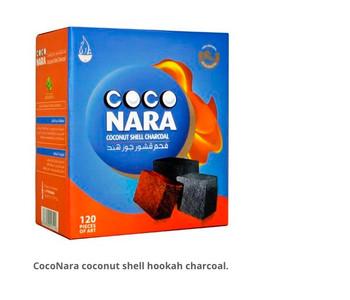 CocoNara Natural Coconut Charcoal 120pc. Carton
