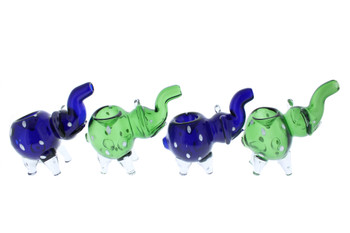 """4"""" Spotted Elephant Glass Hand Pipe"""