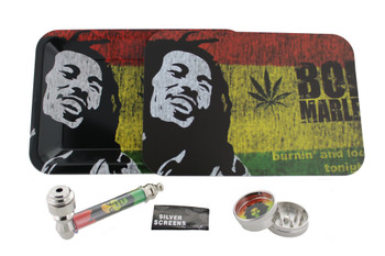 Bob Marley Mini Kit with 5 x 7 Rolling Tray & Magnet Cover