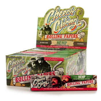 Cheech and Chong King Size Hemp Rolling Papers 6 Pack