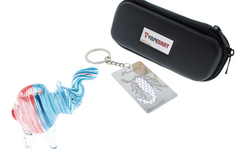 Elephant Swirl Glass Hand Pipe Kit