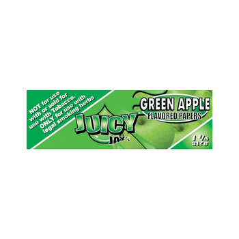 "Juicy Jays 1 1/4"" Green Apple Rolling Papers - 32 Per Book"