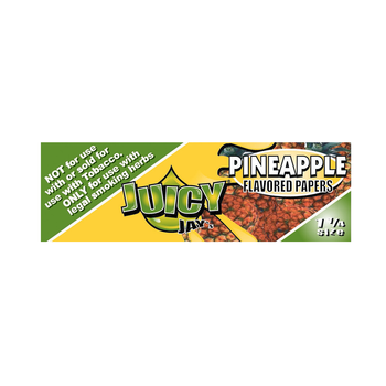 "Juicy Jays 1 1/4"" Pineapple Rolling Papers - 32 Per Book"