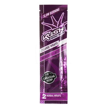 Kush Wraps Herbal Wraps 2 Per Pack - Mixed Grape