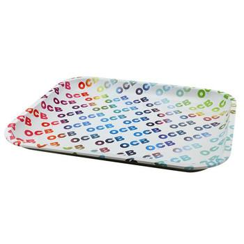 OCB Rainbow Metal Rolling Tray 7.5 x 11.5 Medium