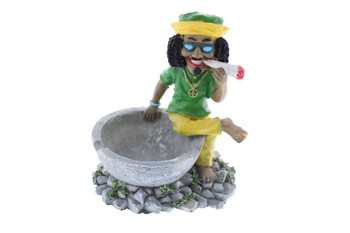 Rasta Man Side Sitting Ashtray - Small