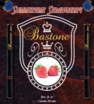 Refillable Hookah Liquid Bastone: Summertime Strawberry Nicotine-Free