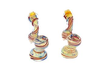 """3.5"""" Fumed Swirl Pattern Pocket Bubbler"""