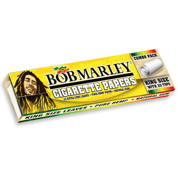 Bob Marley Pure Hemp King Size Combo Rolling Paper - 33 with Tips