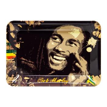 "Bob Marley Rolling Tray Smokin' 7"" x 11"""
