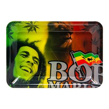 "Bob Marley Rolling Tray Smile 7"" x 11"""