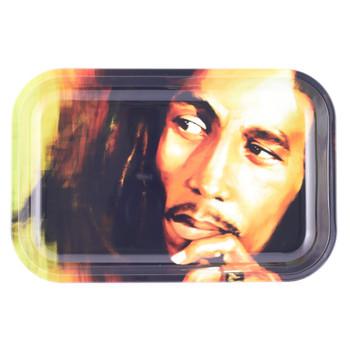 "Bob Marley Rolling Tray Serious 7"" x 11"""