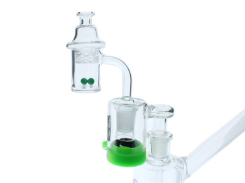 Reclaim Catcher Beveled Banger Combo Kit 90 Degree 14mm Female with Terp Pearls and Bubble Cap