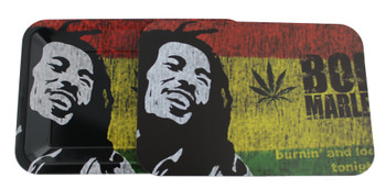 Bob Marley Rolling Tray 7 x 11 Rolling Tray and Magnet Cover