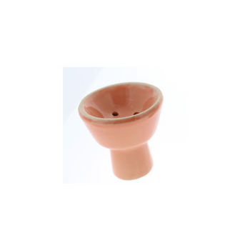 Small Ceramic Hookah Bowl - Orange
