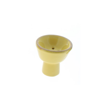 Small Ceramic Hookah Bowl - Yellow