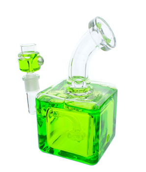 "Frozen Bong - 8"" Freezable Glycerin Bong Cube Green"