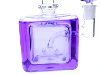 "Frozen Bong - 8"" Freezable Glycerin Bong Cube Purple"