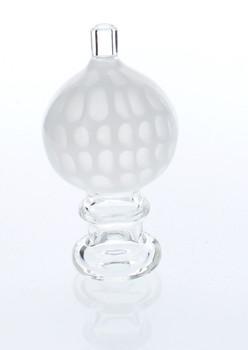 Honeycomb Design Bubble Carb Cap - White