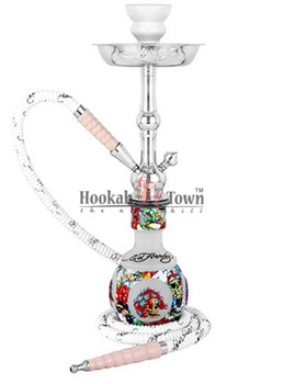 "Ed Hardy Hookah - Limited Edition 18"" - White"