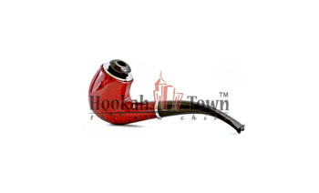 Classic Tobacco Pipe w/ Metal Bowl + Cigarette Adapter