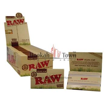 RAW SINGLE WIDE ORGANIC HEMP CIGARETTE ROLLING PAPERS, 100 LEAVES