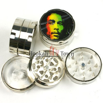 Bob Marley Mini Travel Metal Grinder