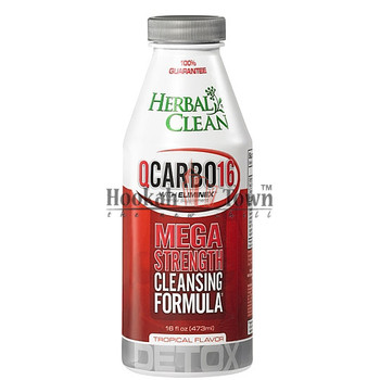 HERBAL CLEAN: QCARBO 16: MEGA STRENGTH: TROPICAL FLAVOR 16 OZ