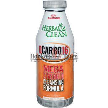 HERBAL CLEAN: QCARBO16: MEGA STRENGTH CLEANSING FORMULA: ORANGE FLAVOR 16 OZ