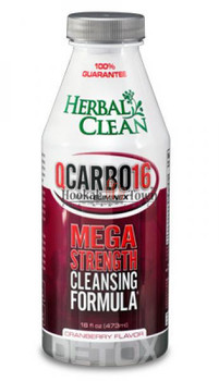 HERBAL CLEAN: QCARBO16: MEGA STRENGTH: CRANBERRY FLAVOR 16 OZ