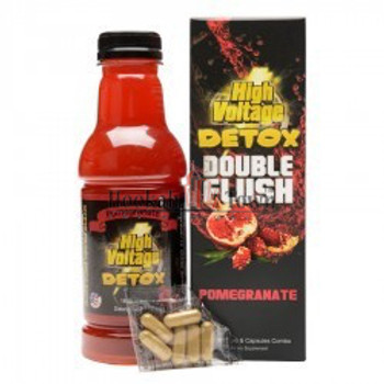 HIGH VOLTAGE DETOX: DOUBLE FLUSH COMBO - POMEGRANATE FLAVOR