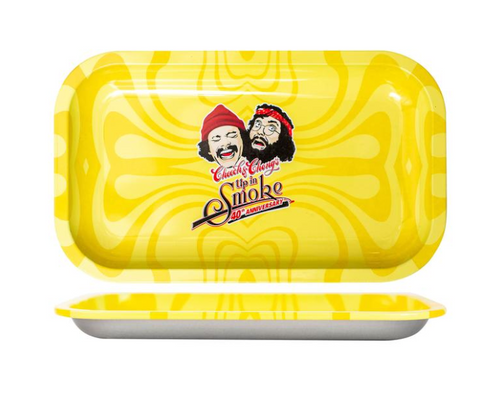 Cheech & Chong 40TH Anniversary Small Tray - Yellow