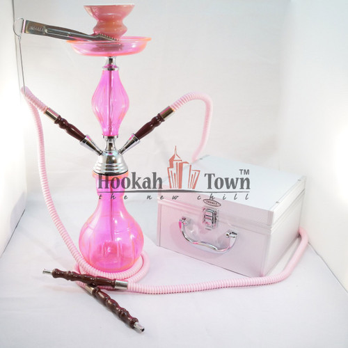 Double Hose Crystal Case Frosted Hookah