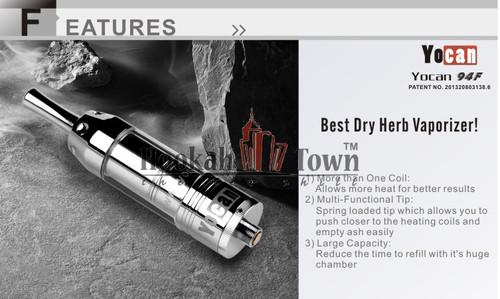 Yocan 94F : Dry Herb Vaporizer Atomizer