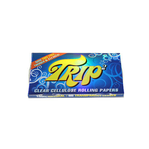 Trip 2 Clear Cellulose Rolling Papers 1 1/4 Size (50 Sheets)