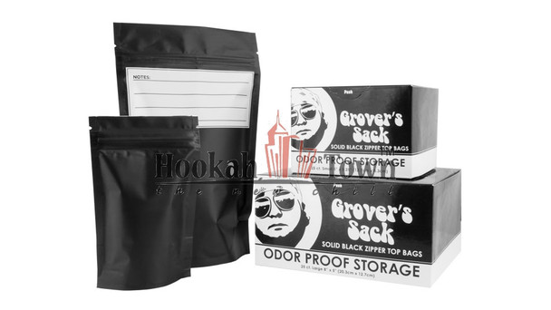 Grovers Sack Large Smell Proof Storage Resealable Bag (Black)